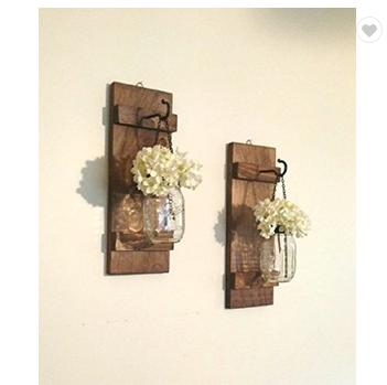 Hanging Mason Jar Sconce Wall Decor